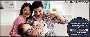 GODREJ NEST - Luxurious Residency Project at Kanidvali East Mumbai... Godrej Nest Kandivali is built on an area of 2 Acre encompassing 500 units across 4 towers. It comprises of 1BHK, 2BHK, and 3BHK Apartments with starting price from 91.16 Lacs*. Godrej Properties has filled Godrej Nest Kandivali amazing specifications:- Elegant living room. 2. Spacious bedroom with sliding windows for an awesome view. 3. Modern kitchen layout with granite platform & SS sink and many more   To Know More For Details Please Contact Us 8447783345....