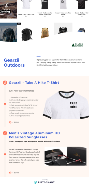 High quality gear and apparel for the Outdoor adventure seeker in you. Camping, hiking, biking, men's and womens' apparel. Shop. Post. Live! This Is Where we Belong https://create.piktochart.com/output/42212001-high-quality-gear-and-apparel-for-the-outdoor-adventure-seek