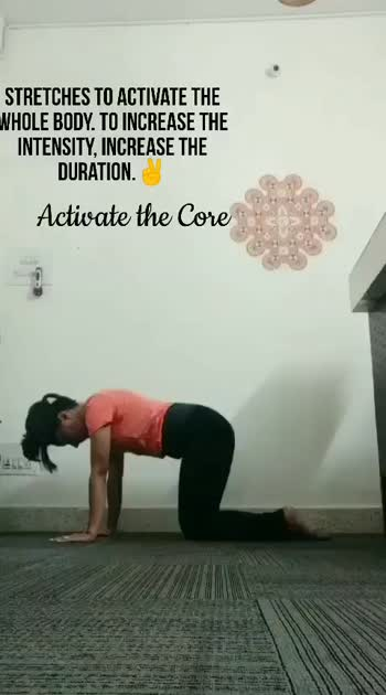 Activate core Series Some Stretches to activate whole body. #corestrength #yogainspiration #coreworkout #corestrengthening