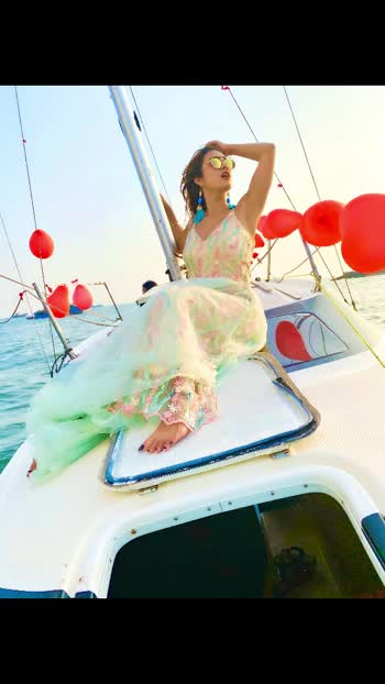 I don't need a Love that sweeps me off my Feet , I need a love that tends to my Roots ....!!🥰🥰🥰 :  Yatch courtesy @jetfleetaviation @shanildesai @rahildesai23  Outfit @baaksha by @meenapradhan @manju.pradhan : : #sealover #sailing #sailinglife #sea #beauty #yatching #happiness #mommysbirthdayspecial #yatchparty #yatchclub #colaba #mommysgirl #baaksha #gown #princessgown #floral #floraloutfit #fashionblogger #luxuryblogger #nehamalik #model #actor #blogger #instagood #instafollow