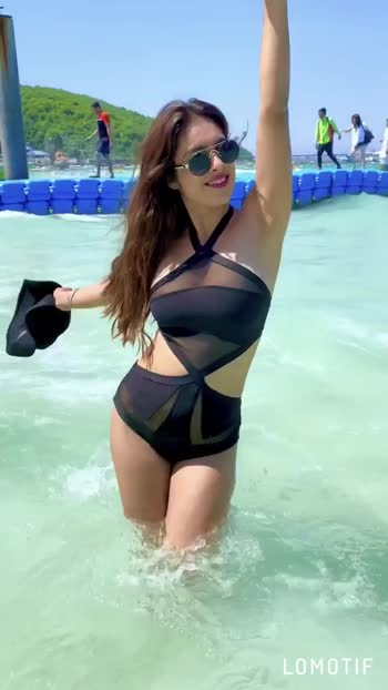 Bad liar 😋😈😈 : Wearing this lit 🔥 beachwear from @paparazzicloset : :  #thailandwithnehamalik #coralisland #badliar #coralislandpattaya #pattaya #bkk #blacklove #blackbikini #beachwear #paparazzicloset #ootd #daylook #bangkok #vacation #vacationmode #holidayseason #birthdaytrip2019 #birthdaytrip #nehamalik #model #actor #blogger #instantpollywood #instantbollywood #instalike.