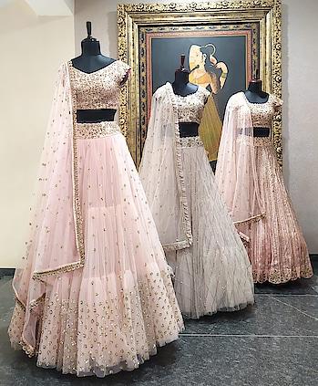 Evergreen, signature pastel lehengas by Mrunalini Rao have arrived Deval The Multi Designer Store!!! #devalstore #ahmedabad #designerstore #designerwear #celebritydesigner #menswear #latestcollection