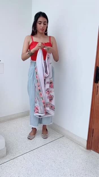 Make your dupatta as a shrug 💃🏻 #shubhibharal #pinkcreed