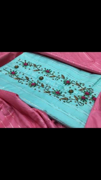 1345/- TOP* Depeon silk handwork  *BOTTOM* cotton  *DUPP* Silk