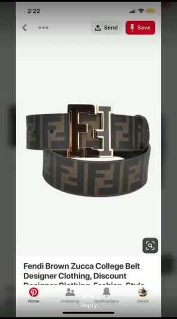 Fendi 10@ belts   with brand box  ₹1250/- freeship ....