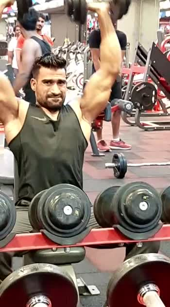 #shoulderworkout #double dumbell press#