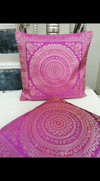 Handmade Satin cushion cover   Size 16*16  Rate @300/ per piece Minimum 2 PC RHF