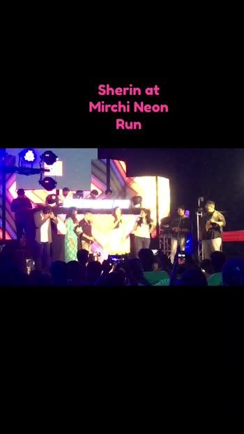 Sherin at Mirchi Neon Run