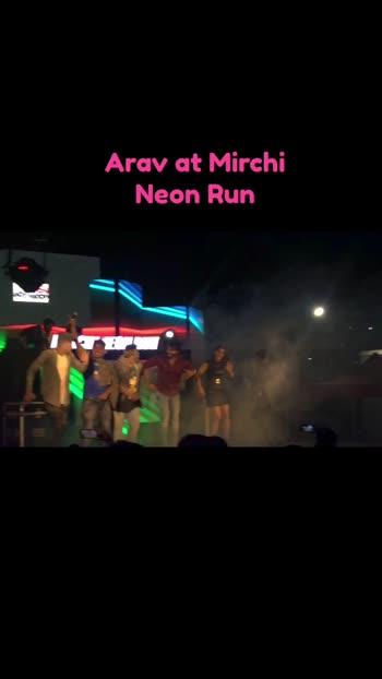 Arav at Mirchi Neon Arun