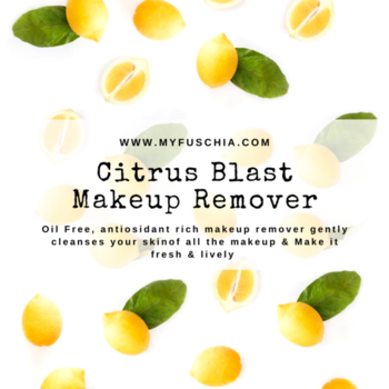 Antioxidant rich make up remover removes even water proof makeup, resulting in a natural glowing skin. 🍋Hurry & Shop : WWW.MYFUSCHIA.COM #fuschia #vkarebiosciences #myfuschia #skincare #skincareroutine #beautytreatment #makeupremover #selfcare #beautycare #naturalbonds #naturalskincare #beautyaddicts