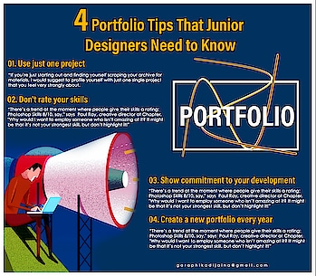 4 Portfolio Tips That Junior Designers Need to  Know #portfolio #portfolioshoot #portfoliodesign #designer #graphicdesign #graphicdesigners   #artist #2019 #garaphikadijaina #graphicproject #graphicdesign #picoftheday