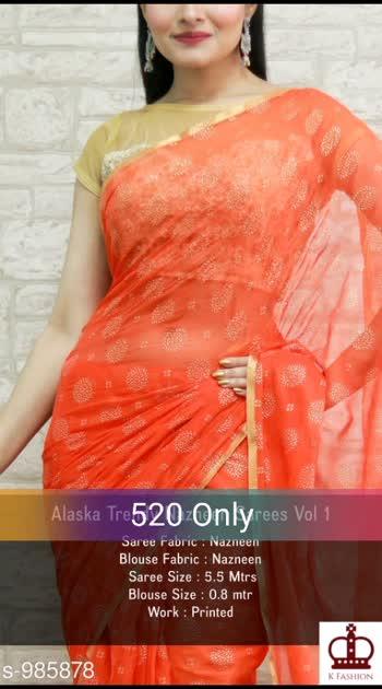 Fashionable Nazneen Saree Fabric: Saree - Nazneen, Blouse - Nazneen Size: Saree -5.5 Mtrs, Blouse - 0.8 mtr Work: Printed #nazneen #saree #shopwithus #buyitnow #thebazaar #cashondelivery #followme #followmeonroposo