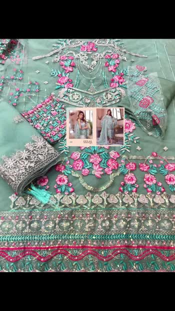 New *Ready to Dispatch*👌👌  ALL NEW STOCK !  *GULAL EMBRODERED COLLECTION *                *VOL3*  TOP  BUTTERFLY NET WITH HEAVY EMBRODERY & DIMOND & MOTIWORK  BOTTOM INNER SANTOON   DUPPTA EMBRODERD NET  *RATE 1550/- singles*  SHREE FABS  READY   BOOKINGS OPEN !