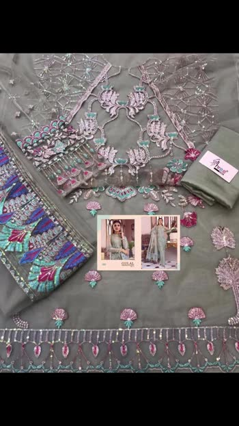 New *Ready to Dispatch*👌  ALL NEW STOCK !  *GULAL EMBRODERED COLLECTION *                *VOL3*  TOP  BUTTERFLY NET WITH HEAVY EMBRODERY & DIMOND & MOTIWORK  BOTTOM INNER SANTOON   DUPPTA EMBRODERD NET  *RATE 1600/- +$ singles*  SHREE FABS   READY   BOOKINGS OPEN !