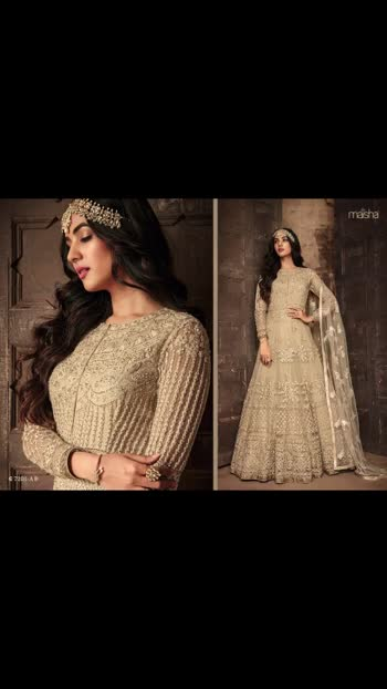 New *MAISHA 7201 HIT COLOURS*👇🏼  Fabric Details :-  Top :-Heavy Net with sparkal Embroidery work + Cording Work + Stone  Sleeves :- Net with Work Inner :- Santoon  Bottom :- dal Santoon  Dupatta :- Net With Work Length :- Max up to 56 Size :- Max up to 44 Flair :- 3.20. mtr  Type :- Semi Stitched ( Material )  Weight :- 1.5kg   *RATE ONLY 🚩1800/-+$*  Ready Stock Today#