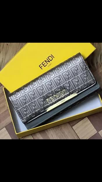 Hob FENDI WALLETS  THREE FOLD  WITH CARD HOLDER  PRICE 799/-  With original box Shipping extra