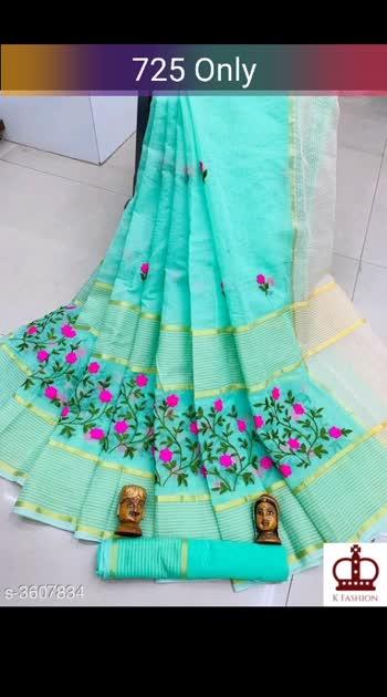 Cotton Chex Embroidery WOMEN'S SAREES Saree Fabric:Cotton Chex Blouse: Running blouse Blouse Fabric: Cotton Chex Border: Solid Multipack: Single #saree #cottonsaree #shopwithus #buyitnow #thebazaar #cashondelivery #followme #followmeonroposo