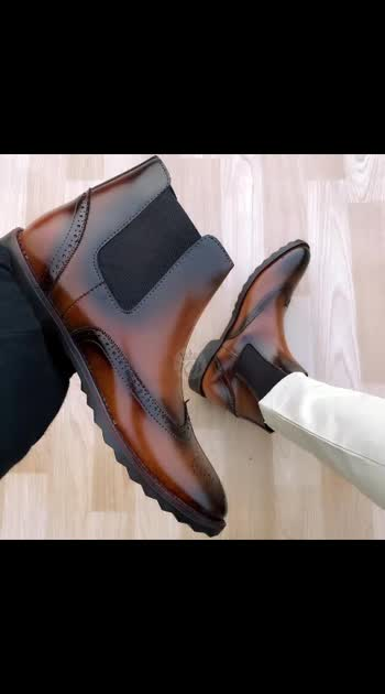 *CHELSEA LEATHER BROGUE BOOT* FOR MEN PREMIUM QUALITY *HIGH QUALITY TPR SOLE* TOP QUALITY MATERIAL SIZE AVAILABLE 6-10(STANDARD FITTING) WITH BOX SHIPPING EXTRA FULL STOCK AVAILABLE  price - 1550 free shipping   #roposo #boots #shoes #chelseaboots #shoesforboys #shoesformale