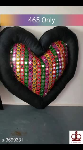Attractive Velvet Heart Shaped Cushion Material: Cushions- Velvet , Filling - Fibre  Size: (L x W)- 14 in x 14 in Description:  It Has 2 Piece Of Cushion Work: Printed