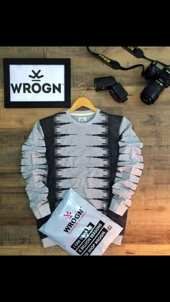Fest *LOOPKNIT SWEATSHIRTS*  Brand - *WROGN*                      *BY VIRAT*  Style - Men's x-neck sweatshirt ...WITH *ALL OVER SPRAY PRINT*  Fabric - 100% Cotton  LOOPKNIT fabric  👌👌👌👌👌👌👌  :GSM -    260+  Color -  6 🖤💚❤🧡💙🧡  *Size -    M(38) L(40) XL(42)*    *PRICE - 500/-+ SHIP* 😍😍😍😍😍😍😍  *IT COMES WITH WHITe POLY PACKING AND ALSO SHOPPING BAGS WILL BE ATTACHED FOR EACH SINGLE PCS* 😍😍😍😍😍😍😍😍