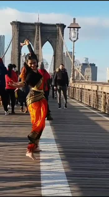 #bharatanatyam #fusion to on #youtube -  DhruviShahDance #semiclassical #dance   #brooklyn #bridge #newyork