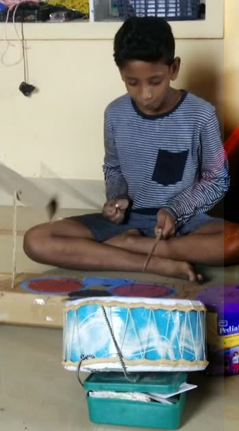 my bro invented drums#