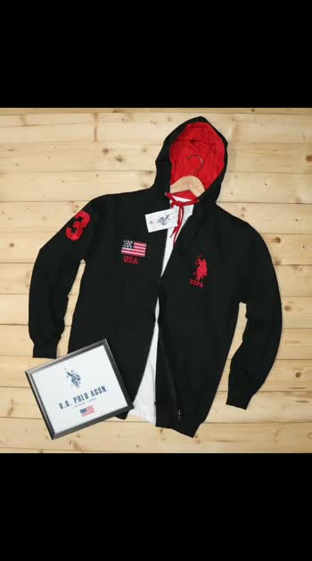 *PREMIUM QUALITY HOODIES JECKET WITH SLEEV & CHEST LOGO*  Brand  - *USPA*  Style -Men's hoodies with Hight Quality *aemroday at sleev&chest*  Fabric - 100% *COTTON LOOPKNIT WITH HEAVY GSM*  GSM - 320  *BIO WASHED*  Color -    black as per image   Size -      M , L , XL ,XXL                   850fs  Moq -      1 pcs           ➡ All Goods are in single pcs poly packed                    ➡. *HEAVY GSM DERBY RIB USED AT SLEEVE CUFF ,BOTTOM. &  RIB*