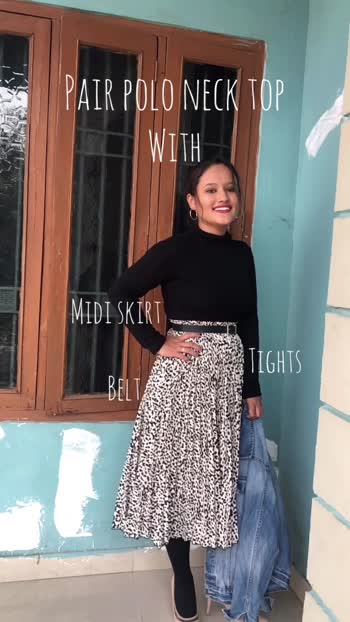 Date: 16.12.19 Different ways to style polo neck top #fashionblogger #fashionista #winteroutfit #winterlookbook #fashion