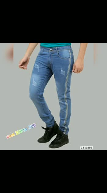 Poly Cotton Side Tape/Side Tape and Rugged Slim Fit Jeans Price : 300rs to 700 rs What's app order 9704767179 #roposo #roposostar #fashion