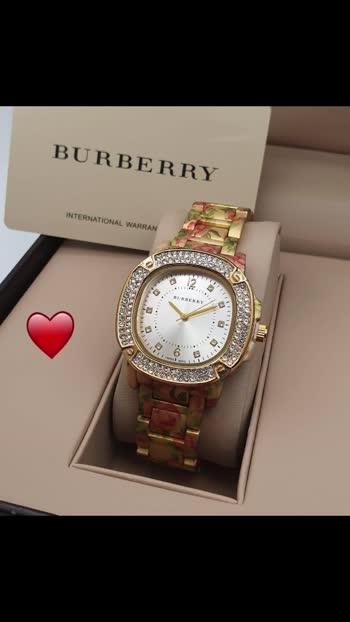 Burberry Ladies watch Good quality  Best price 1000/-ws-😍😍🌷