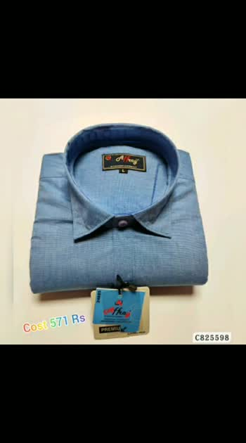 Cotton Solid Regular Fit Shirts For order WhatsApp 9704767179 Cost 571 #roposo #fashion #mensfashion #menswear