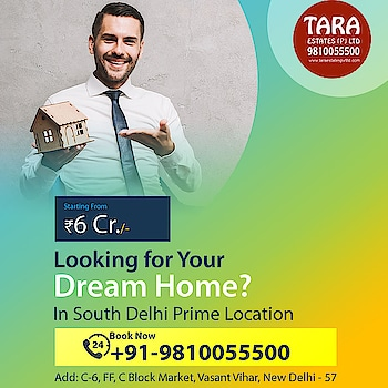 Search for Dream Homes in South Delhi Prime Location?  Come in for a free consultation or call at 9810055500 visit: http://bit.ly/2LdDh3y