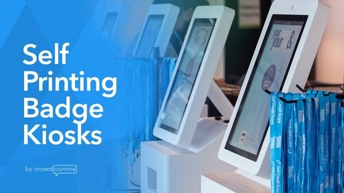 """2019: The Year of the Badge Printing Kiosk  In 2018, we launched our Pronto! self-printing name badge kiosks. Since then, CrowdComms's Pronto! kiosks have delighted attendees at countless events across the globe. We have enjoyed a hugely successful events season with our kiosks in 2019 and check-in event apps are expected to increase in use by 18% in 2020.   Our kiosks allow guests to check-in and self-print their event badges in moments. Kiosks also allow you to efficiently manage pre-event and onsite registrations. Attendees who turn up on the day of the event can quickly register and print their badge via kiosks, dramatically reduce attendee check-in queues.  8 Reasons to use Kiosks at Your Event in 2020  Here are a few reasons you should replace your current badging solution with <a href=""""https://www.crowdcomms.com/post/2019/12/20/2019-the-year-of-the-badge-printing-kiosk"""">CrowdComms kiosks</a>…  1.  Swift Check-In  Don't let a long queue be the first impression of your event. Our Pronto! kiosks dramatically reduce attendee's queuing time; with a quick scan of the QR code on their smartphone, their ticket will be printed in seconds. Attendees will also be able to access their barcode through your event app.   2.  Onsite Registration  Last minute registrations can be a headache for event planners, it takes time to sign up late-comers. By setting up a kiosk specifically to manage these late registrations, you can save your staff a lot of hassle onsite. Attendees will be able to fill in their own details and their data will be immediately captured onto your registration software.   3.  Sustainable Badging Solutions  Ditch the plastic and unnecessary waste by opting for our eco-friendly badging solutions. This allows you to pack a punch with effective badge designs, whilst doing your bit for the planet. Click here to find out more about our badging options.   4.  Customisable Design  Our self-printing badge kiosks can be fully branded to your fit with your event. Sc"""