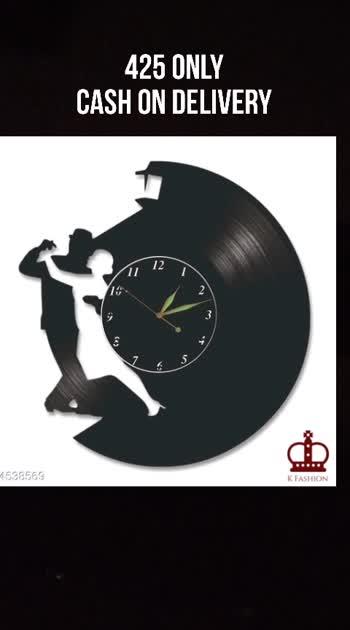 Decorative Wall clock with Black Mirror Finish Home Decor  Material: Mirror  Size(L X W): 9.5 in X 9.5 in Description: It Has 1 Piece Of Wall Clock
