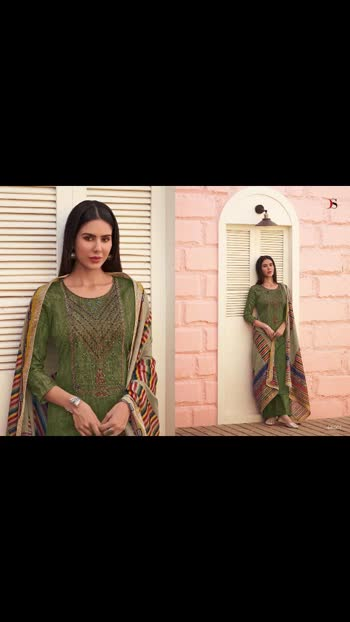New *Panghat-7 by DEEPSY SUITS*   READY TO DISPATCH   Top - Pure Jam cotton Print             With Heavy Self Embroidery   Bot - Cotton solid   Dup - Cotton Mal-Mal Foil Print            Box Pallu with Four Side                   Lace & Tussels  *Rate - 1100 /-+$ singles*  *_Splendid Quality With Digitally Printed Fabric_*    * Special pouch packing*   *_Quilted Fabric Used For best quality results_*