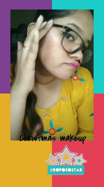 Christmas #makeup #roposomakeup #roposostar #risingstar #makeuplook