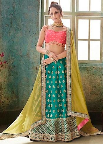 BUY NOW : 2rJrWjK   Delectable Turquoise Blue & Rani Party Wear Lehenga Choli  #christmassale,#traditionalsaree,#designerblouse,#indiantraditionalwear,#indiansareeonline,#designerprintedsaree,#partywearsaree