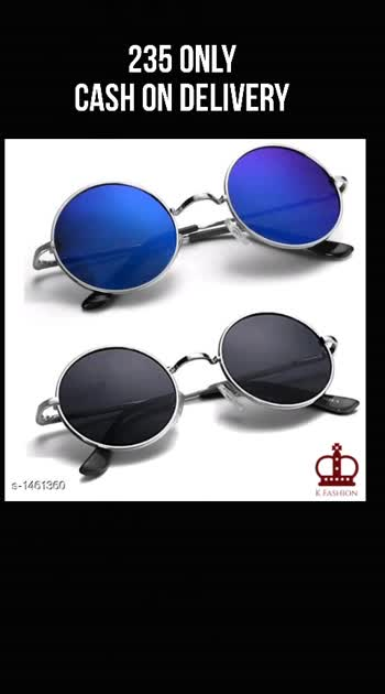 Stylish Sunglasses ( Pack Of 2 ) Material: Material - Plastic Size: Free Size Description: It Has 2 Pieces Of Sunglasses