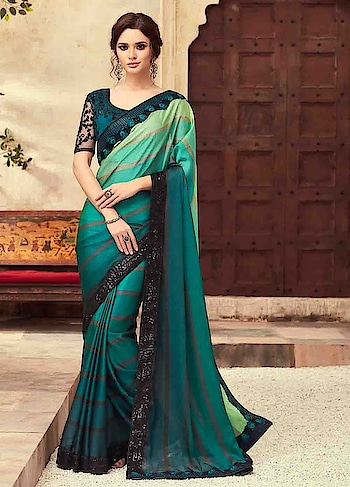 BUY NOW : 36dU5y6  Feel Delightful In Green Party Wear Embroidered Saree   #christmassale,#traditionalsaree,#designerblouse,#indiantraditionalwear,#indiansareeonline,#designerprintedsaree,#partywearsaree