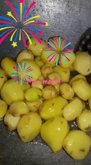 recipe : Aloo methi 🤗 #roposo  #homecooked   #greenleafyvegetables  #recipevideo