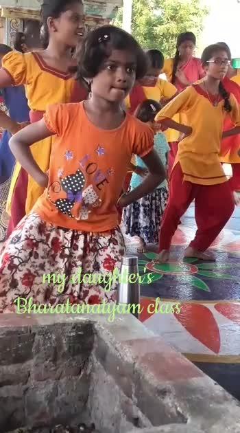 #my daughter Bharatanatyam class