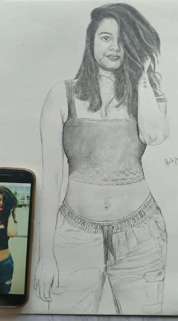 Viral girls in progress #roposostar #mumbaiblogger #artpravin #artist