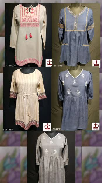 345 Only Cash on delivery Aishani Attractive Tunics Fabric: Viscose Sizes: S, XL, XS, L, M