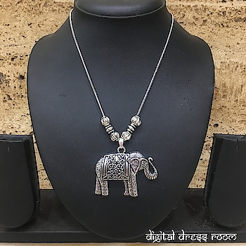 Hand crafted Silver Elephant & Calf Pendent Necklace🐘 Item Code:(🔎1405N37-349 Purchase from our website-https://digitaldressroom.com/collections/necklace/Necklace #necklace #necklaceset #jewelrysets #silver #silvernecklace #indianjewelry #bridal #traditional #bridaljewelry #weddingjewelry #weddings #bridalwear #bridalgoals #templejewelry #india #tradition #indianwear #traditionwear #ethnic #indianjewelry #indianbride #indianwedding #oxidized #oxidizedjewellery #oxidizednecklace #ethnicjewelry #mangalsutra #imitationjewellery #fashionjewellery #silverjewellery #pearljewelry
