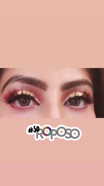 #makeup #makeupartist #muadelhi #eyemakeup #glamlook #cosmogal1412 #roposobeauty #soroposo