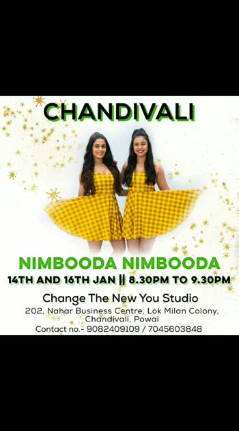 #teaching  🍋 Nimooda 🍋 at Chandivali . 👉@change.thenewyou  1️⃣2️⃣ and 1️⃣4️⃣ #january  . 🕣8.30-9.30pm  #teamnaachchoreography   #teamnaachregularbatch #chandivali #nimbooda_nimbooda   #nimbooda