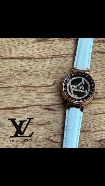 Srf *Louis Vuitton*❣  *A Louis Vuitton watch now in PREMIUM QUALITY With budget Price . Grab it.*🔥  *New in stock*❣  * Louis vuitton❤ * Tambour ladies  * 7AAA * Features: - 12 hr dial - Date indicator - Quartz movement  -mini crono working - Case-35 mm - Thickness: 8.5 -Monogram pattern brown belt -Rose steel case with white dial -solid back steel back  *🙏🏻PREMIUM QUALITY PLZ DONT COMPARE WITH ANOTHER QUALITY🙏🏻*  *Price-Rs 1600/-+ SHIPPING😍*  *With Brand Box 📦 *  *Product will be delivered same as in pic & video. No change seen*💯✅  *Same day dispatch*❣