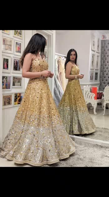 "Sparkling in #SprinklebyNityaBajaj #happyfittings at #studionityabajaj  #Happyclients #happytrials ""Try to keep make-up minimal with such a statement outfit"", says our designer, Nitya Birla. #sequinlove at studio NITYA BAJAJ. #labelnityabajaj #sprinkle #sparkle #gold #golden #goldsequin #sequins #gown #eveninggown #eveningwear #occasionwear #bride #bridal #bridalfitting #NBbrides #NityaBajaj #ombre"