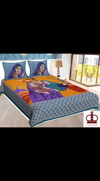395 Only Cash on delivery Chaddarwalas Cotton Dandiya Printed90x100Double Bedsheet With Pillow Cover Fabric: Cotton No. Of Pillow Covers: 2 Thread Count: 160 Multipack: Pack Of 1 Sizes: Queen (Length Size: 100 in, Width Size: 90 in, Pillow Length Size: 27 in, Pillow Width Size: 17 in)