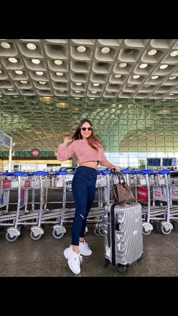 Airport look of the day ....!! : Airport Look deets : Black Long Winter Top @sheinofficial  Belt @diesel  Long boots @filaindia  Shades @Aldo : :  #offtovaranasi #byebyemumbai #varanasi #travelblogger #collaborationtrip #airportlookoftheday #airportlook #airportfashion #travelwithstyle #airportstyle #winters #winterfashion #style #styleblogger #fashionblogger #pollywood #punjabi #punjabiartist #punjabiactress #punjabigirl #ootd #ootdfashion #nehamalik #model #actor #blogger #instalike